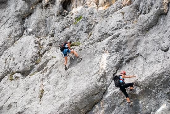 Klettersteig Untersberg : Berchtesgadner hochthron klettersteig